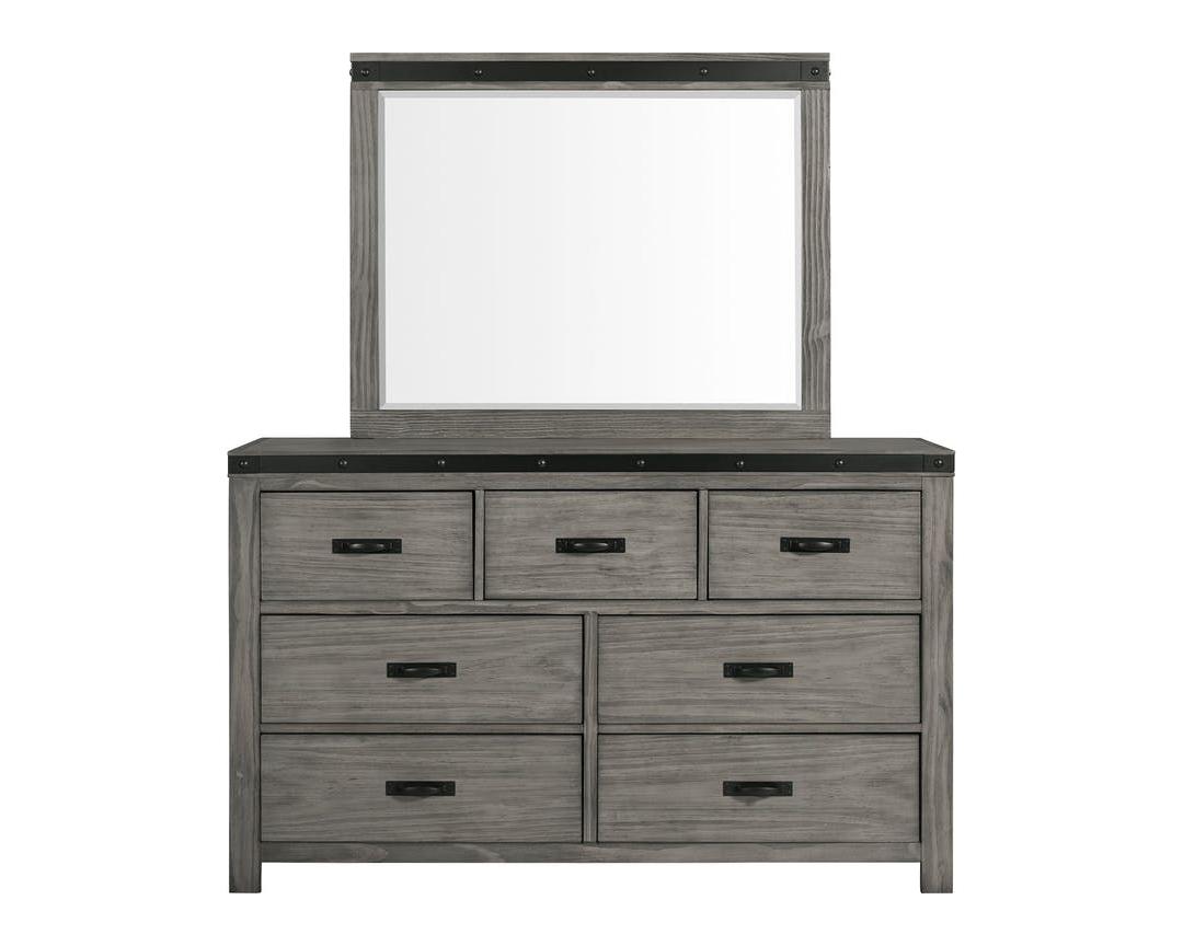 EWE600 wade gray dresser and mirror- front