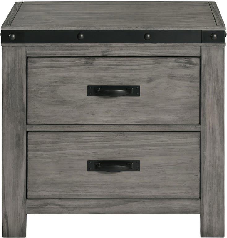 EWE600 wade gray nightstand - front