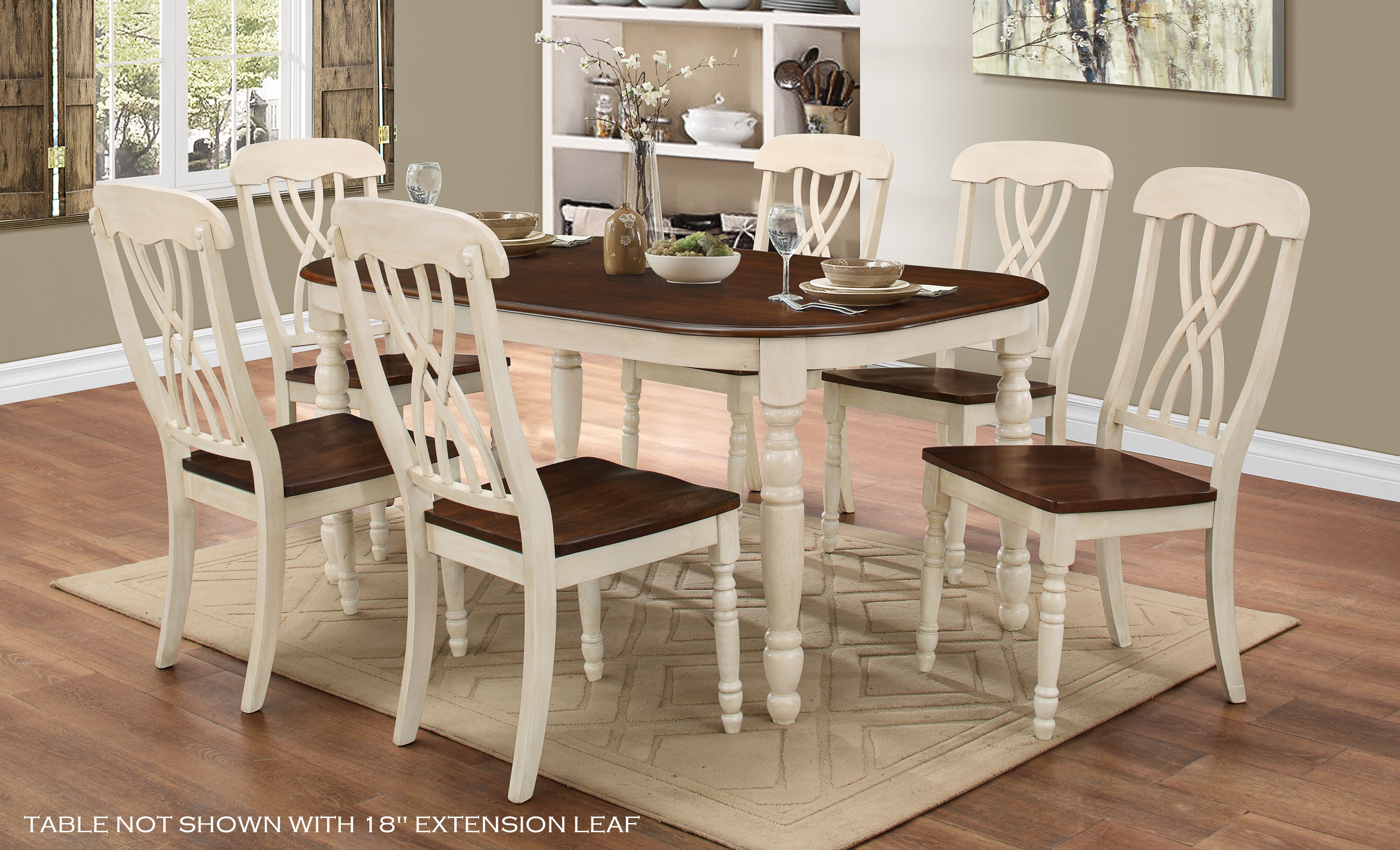 HM3898W-EXT 7PCS DINING SET