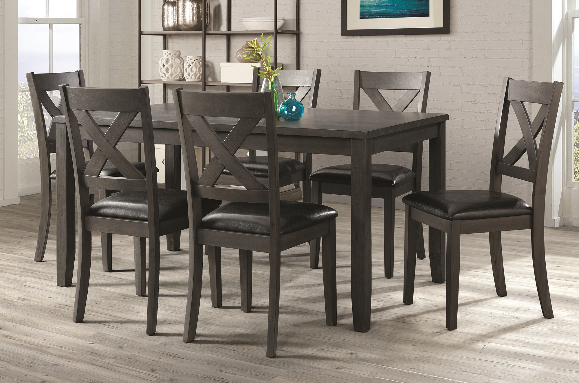 EDAX4007 7pc Alex Dining - Grey