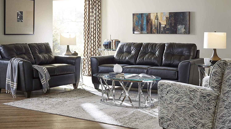 UN2024STO Soft Touch Onyx (Set) UN158BO Bizzar Onyx (Acc Chair)