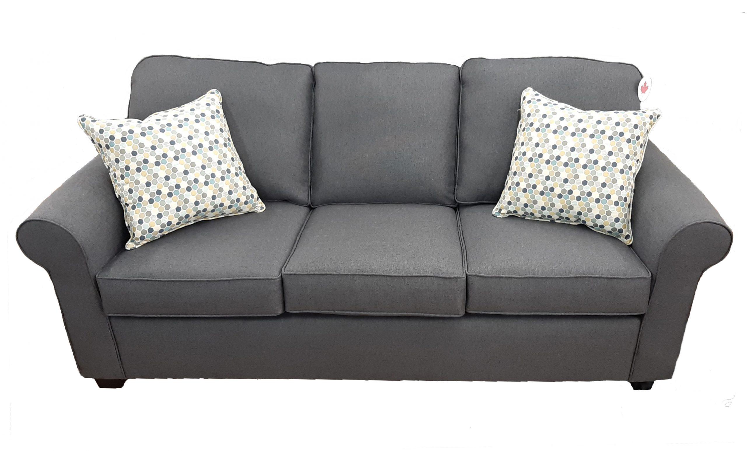 AC-2020 #16198B Dark Grey Sofa